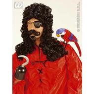 Party-accessoires Pruik, kapitein Haak