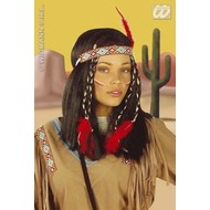 Party-accessoires: Pruik, Indiaanse Cheyenne