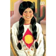 Party-accessoires: Pruik, Indiaan man / vrouw
