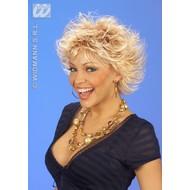 Feestaccessoires: Wetlook pruik blond