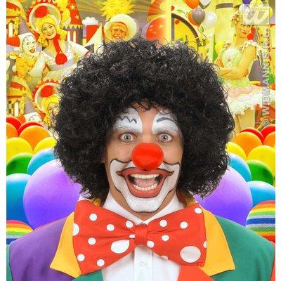 Zwarte clownspruik