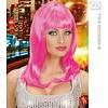 Roze glamourpruik Pinky