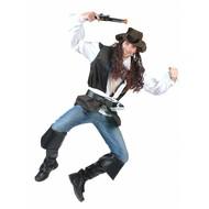 Feestaccessoires: Piratenhoed met lang haar