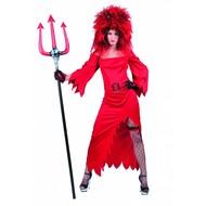 Feestaccessoires: Pruik Devils bride