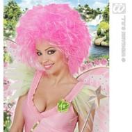 Feestaccessoires: Pruik roze fee