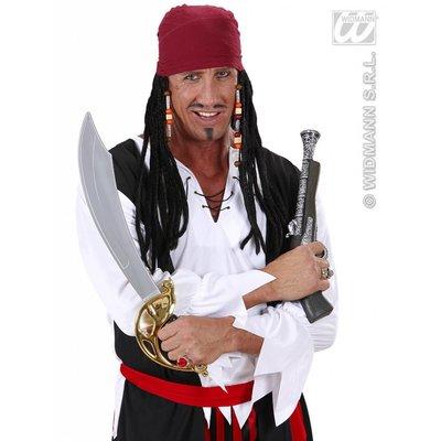 Piratenpruiken met bandana en dreadlocks