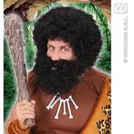 Feestaccessoires: Krulpruik met baard in 3 kleuren