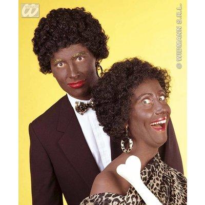 Pruik Afro-look/Zwarte Piet