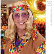 "Feestaccessoires: Hippie-pruik ""Flower"""