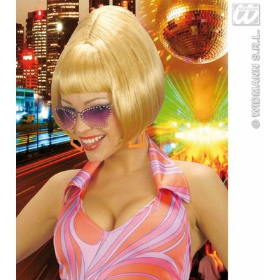 Pruik Partygirl seventies