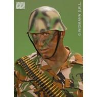 Party-accessoires: Camouflage soldaten helm