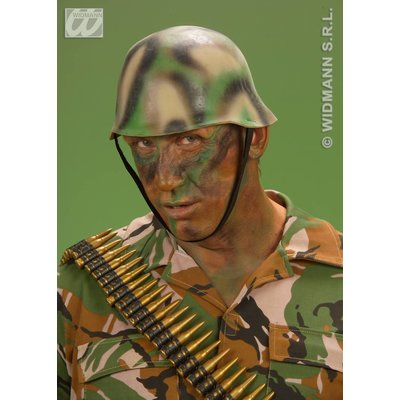 Camouflage soldaten helm
