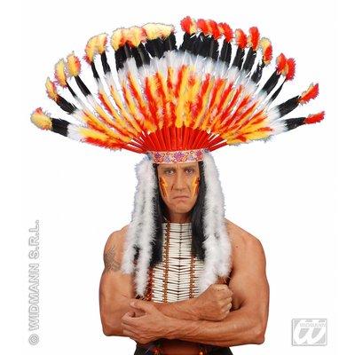 Indianen verentooi met marabou