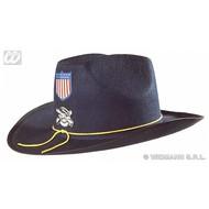 Partyhoed: Burgeroorlog hoed + decoratie, vilt