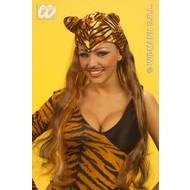 Party-accessoires: Hoofddeksel tijger met haar