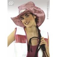 Party-accessoires: Paillettenhoed cowgirl