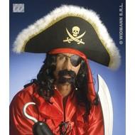 Party-accessoires: Luxe piratenhoed met hoofdband