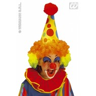 Party-accessoires: Clownshoed neon met pruik