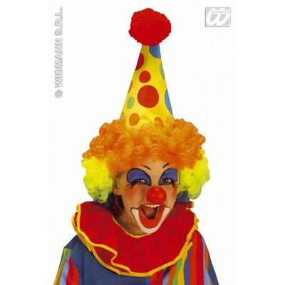 Clownshoed in neon met pruik