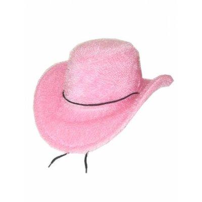 Cowboy-hoed harig roze