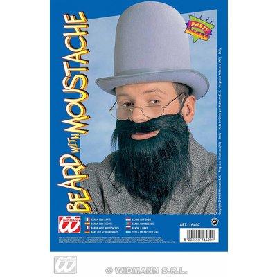 Aanplak baard met snor