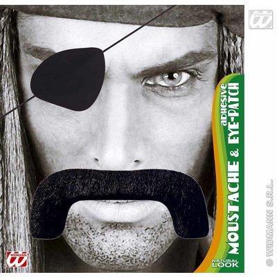 Piraten snor met ooglap