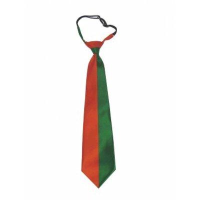 Oranje met groen stropdassen