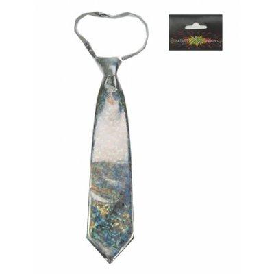 Zilveren holografische stropdassen