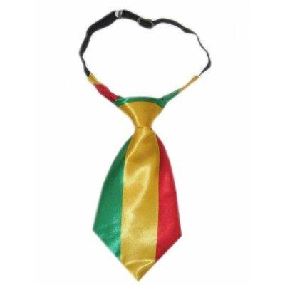 Korte stropdas (rood/groen/geel)