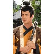 Vrijgezellenpruik: samurai pruik