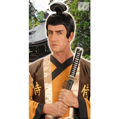 Samurai pruik met knotje