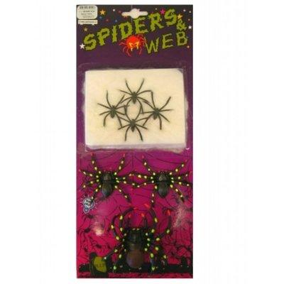 Fopartikelen, vieze spinnen in een web