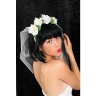 Bruidssluiers met roosjes