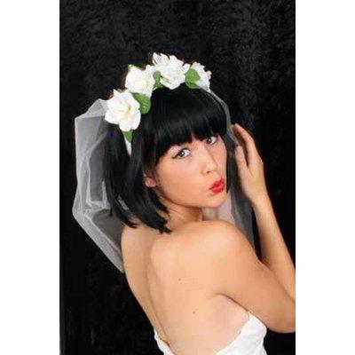 Bruidssluiers met roosjes voor henparty's