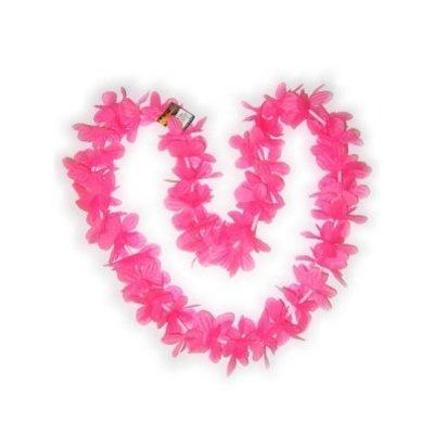 Roze Hawaii bloemenslingers voor henparty's