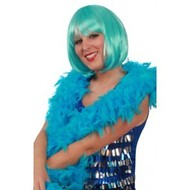Turquoise boa's voor henparty's