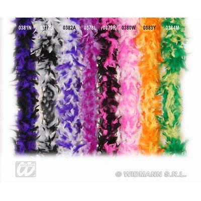 Lila met paarse verenboa voor henparty's
