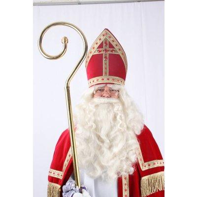 Luxe messing staf voor Sinterklaas