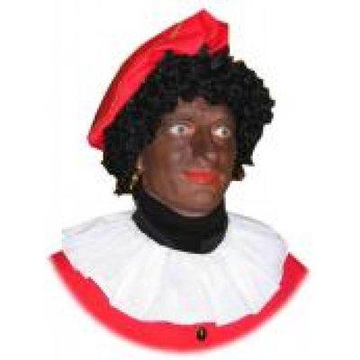 Fraaie witte Zwarte Piet kraag