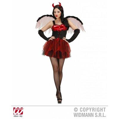 Sexy duivels jurk met vleugels