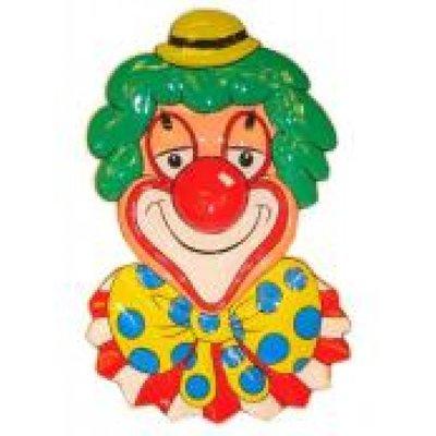 Clowndecoratie voor aan de wand