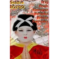Carnaval- & feest accessoires: Geisha Pruik