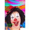 Kleurige clownspruiken