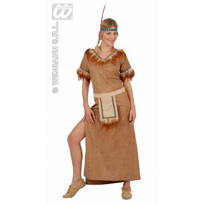 Indiaanse Mohawk jurk van nep suede