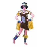 Carnavalskostuum: Afrikaanse dame
