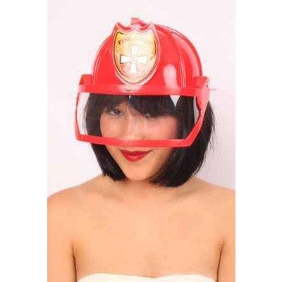 Rode brandweerhelmen
