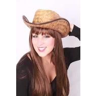 Party- & feest accessoires: Strohoed Cowboy