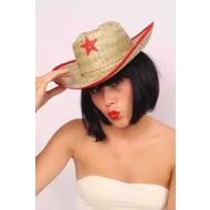 Party- & feest accessoires: Cowboy Strohoed (kind)