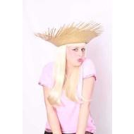 Party- & Feest-accessoires: Strohoed rafel naturel