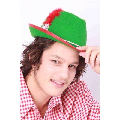 Tiroler hoedje met veertje